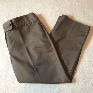 Ann Taylor Brown Cropped Leg Pants